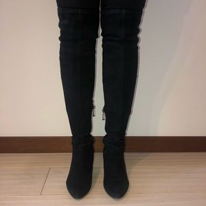 Sigerson Morrison black over-the-knee boots